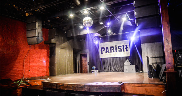 View of the interior of The Parish after buying tickets