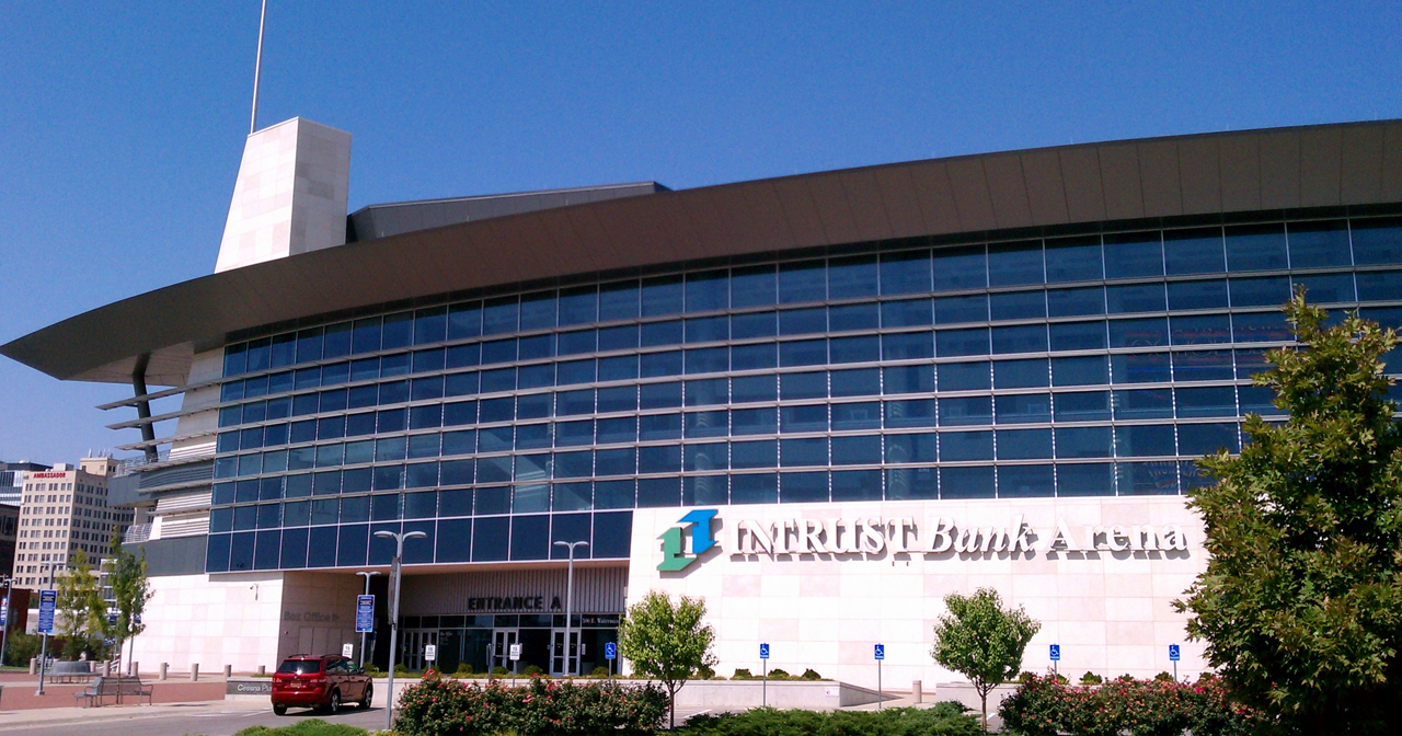 View of the interior of INTRUST Bank Arena after buying tickets