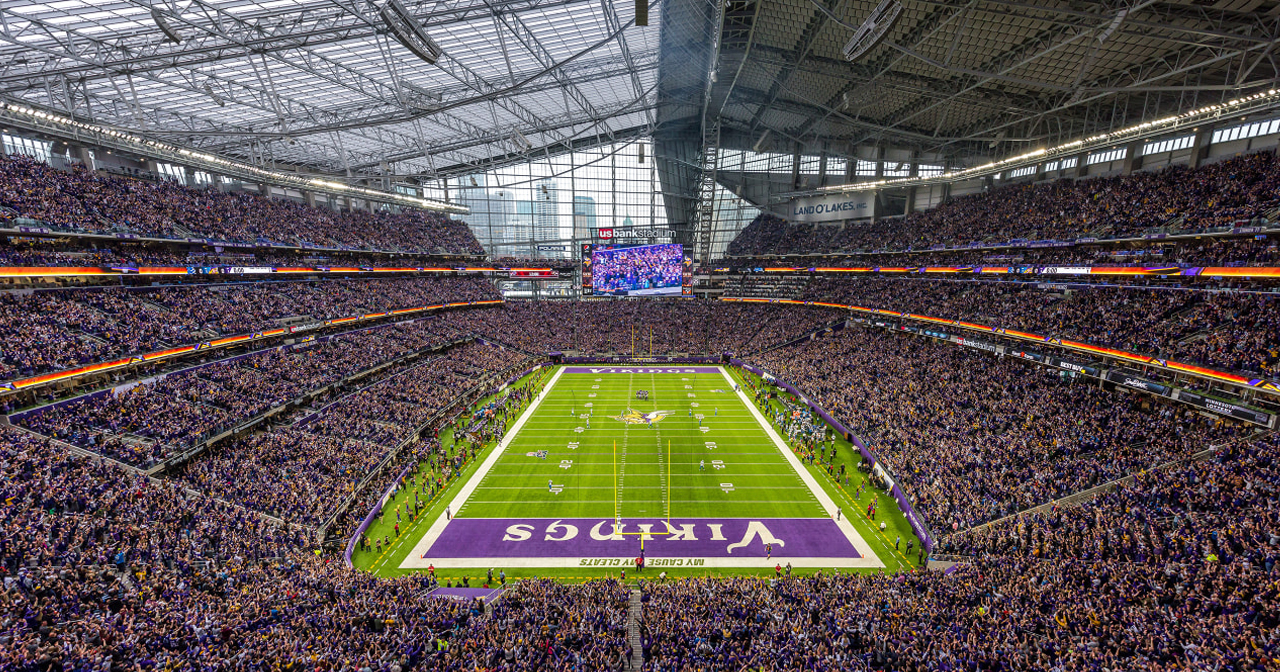 View of the interior of US Bank Stadium after getting free guest list