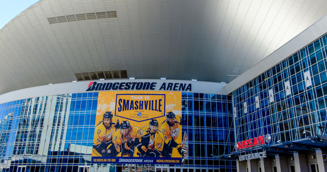 Inside look of Bridgestone Arena with bottle service