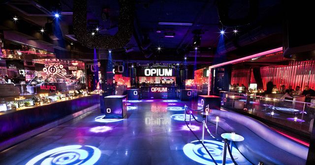 View of the interior of Opium after buying tickets