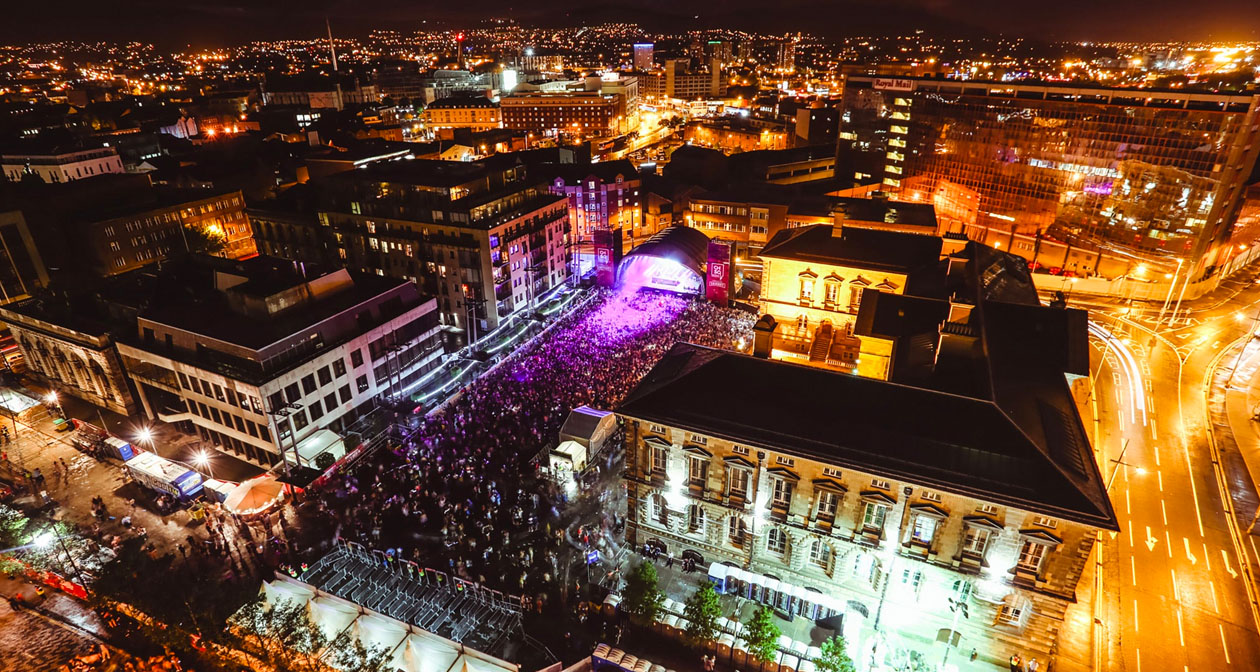 Inside look of Custom House Square after getting free guest list