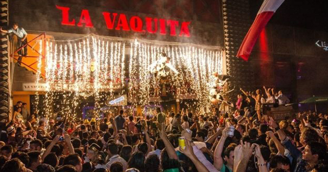 View of the interior of La Vaquita after buying tickets