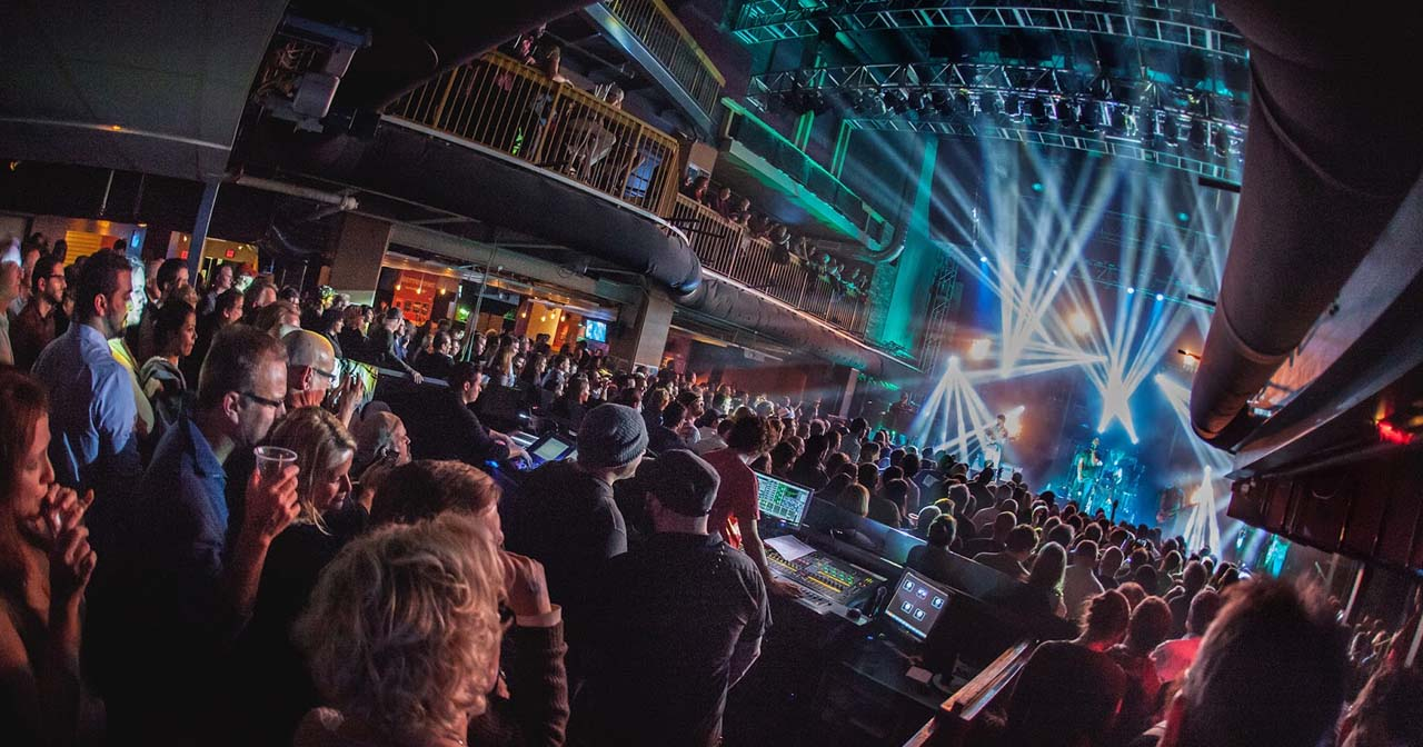 View of the interior of Rams Head Live! after getting free guest list