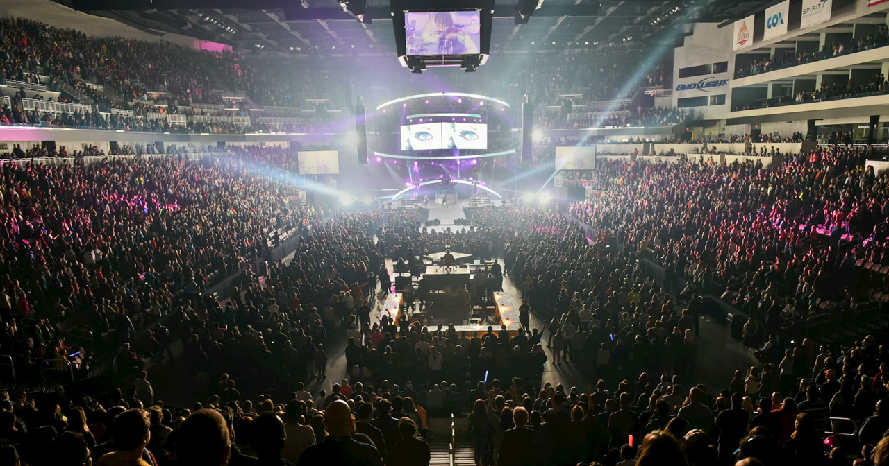 Inside look of INTRUST Bank Arena after buying tickets