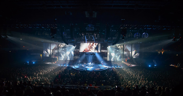 View of the interior of Pechanga Arena after getting free guest list
