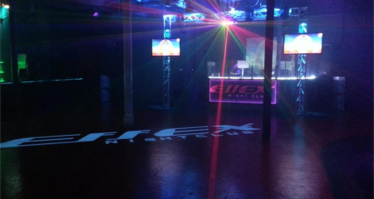 Inside look of Effex Nightclub with bottle service