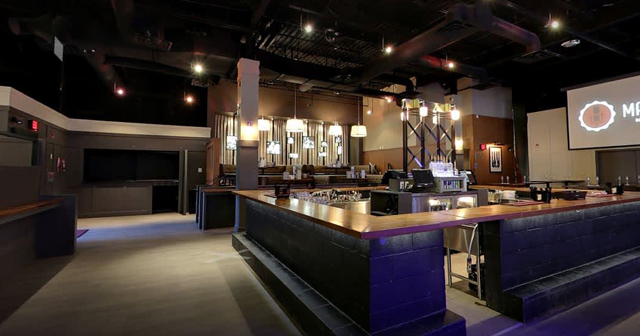 Inside look of Marquee Beer Market with bottle service