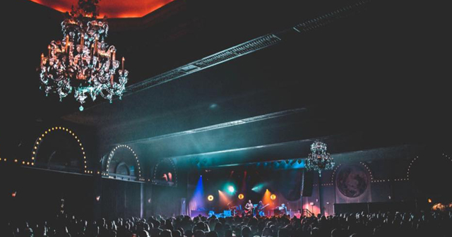 View of the interior of Crystal Ballroom after buying tickets