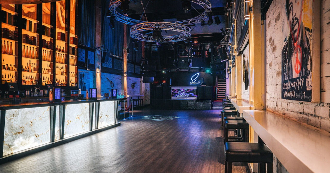 View of the interior of Studio Nightclub after buying tickets