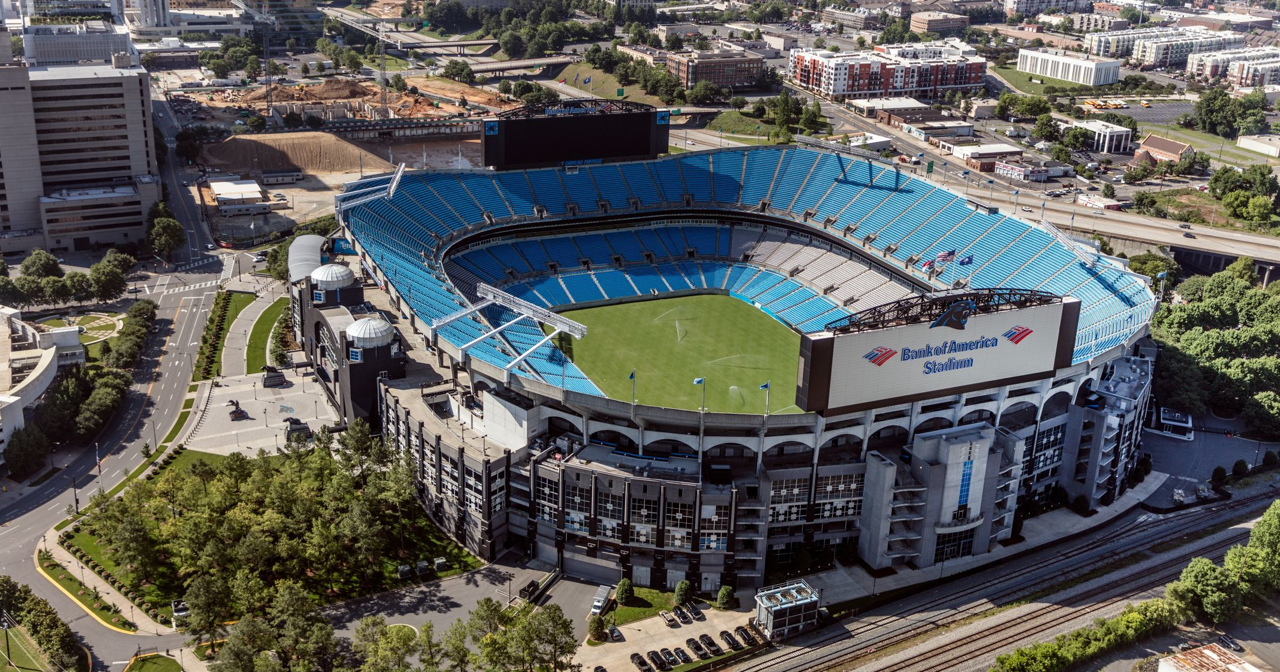 Inside look of Bank of America Stadium after buying tickets