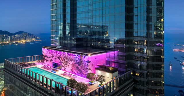 Inside look of W Hotel & Pool with bottle service