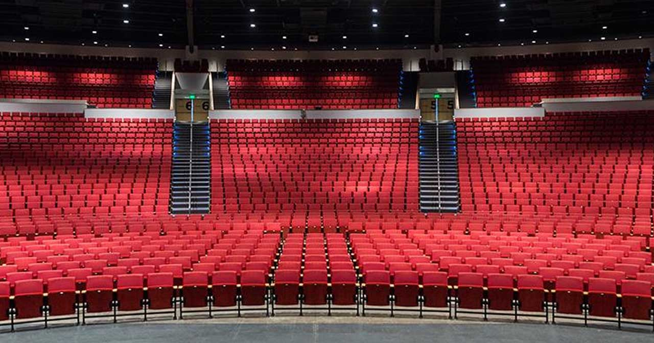 View of the interior of Bellco Theatre after getting free guest list
