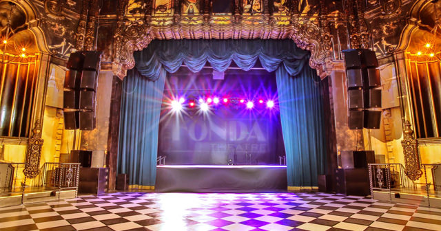 View of the interior of Fonda Theatre after getting free guest list