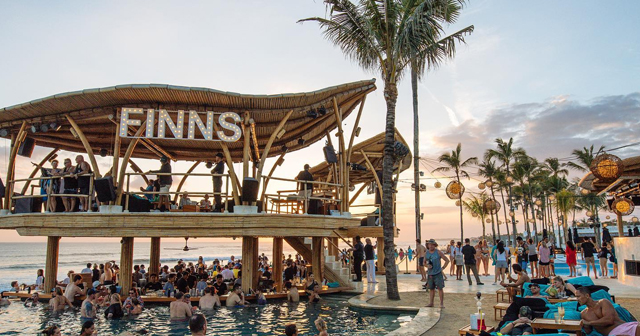 View of the interior of Finns Beach Club after getting free guest list