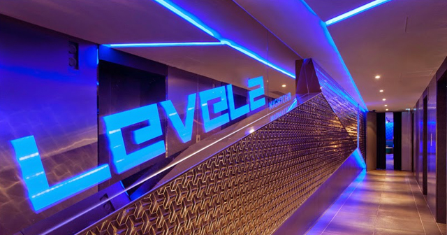 Inside look of Levels with bottle service