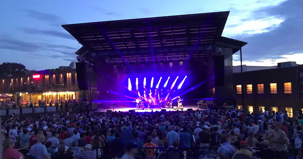 Inside look of Charlotte Metro Credit Union Amphitheatre after buying tickets