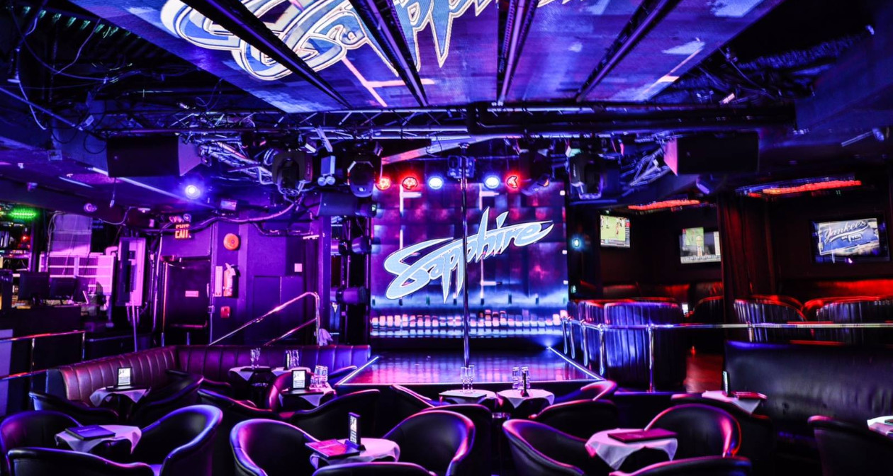 Inside look of Sapphire NY with bottle service