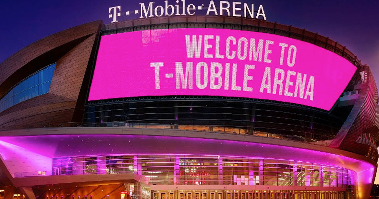 View of the interior of T-Mobile Arena after buying tickets
