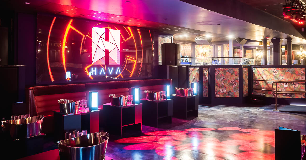 Inside look of Hava with bottle service