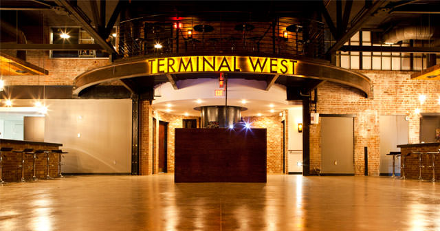 View of the interior of Terminal West after buying tickets