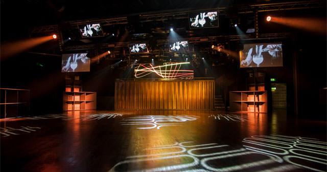 View of the interior of Ministry of Sound after buying tickets