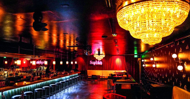 Inside look of Sophie's with bottle service