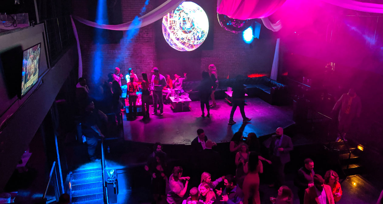 View of the interior of Hive Nightclub after buying tickets