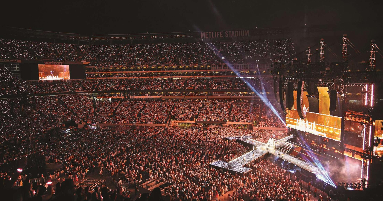 View of the interior of Metlife Stadium after buying tickets