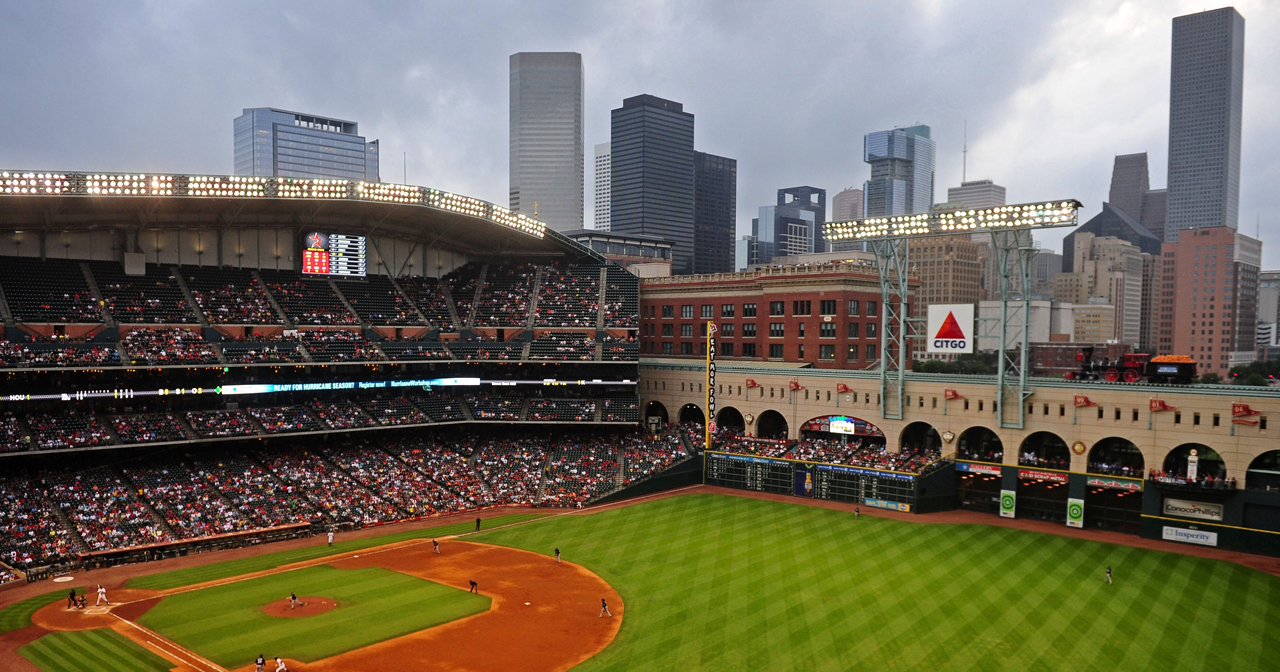 Inside look of Minute Maid Park with bottle service