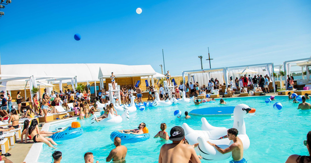 View of the interior of Cabana Pool Bar after getting free guest list