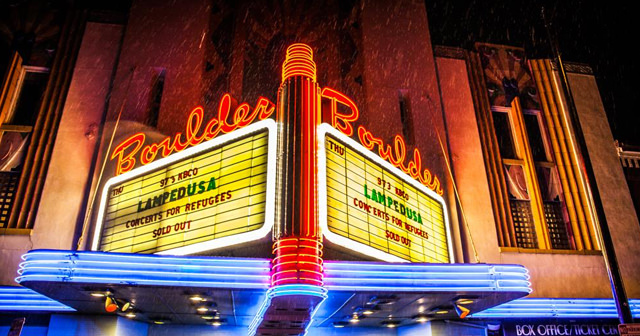 Inside look of Boulder Theater after buying tickets
