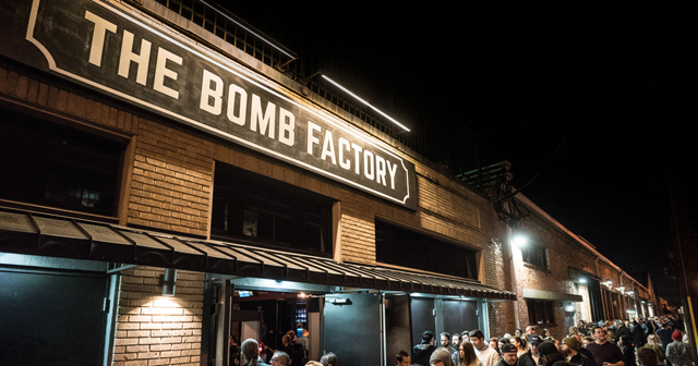 Inside look of The Bomb Factory with bottle service