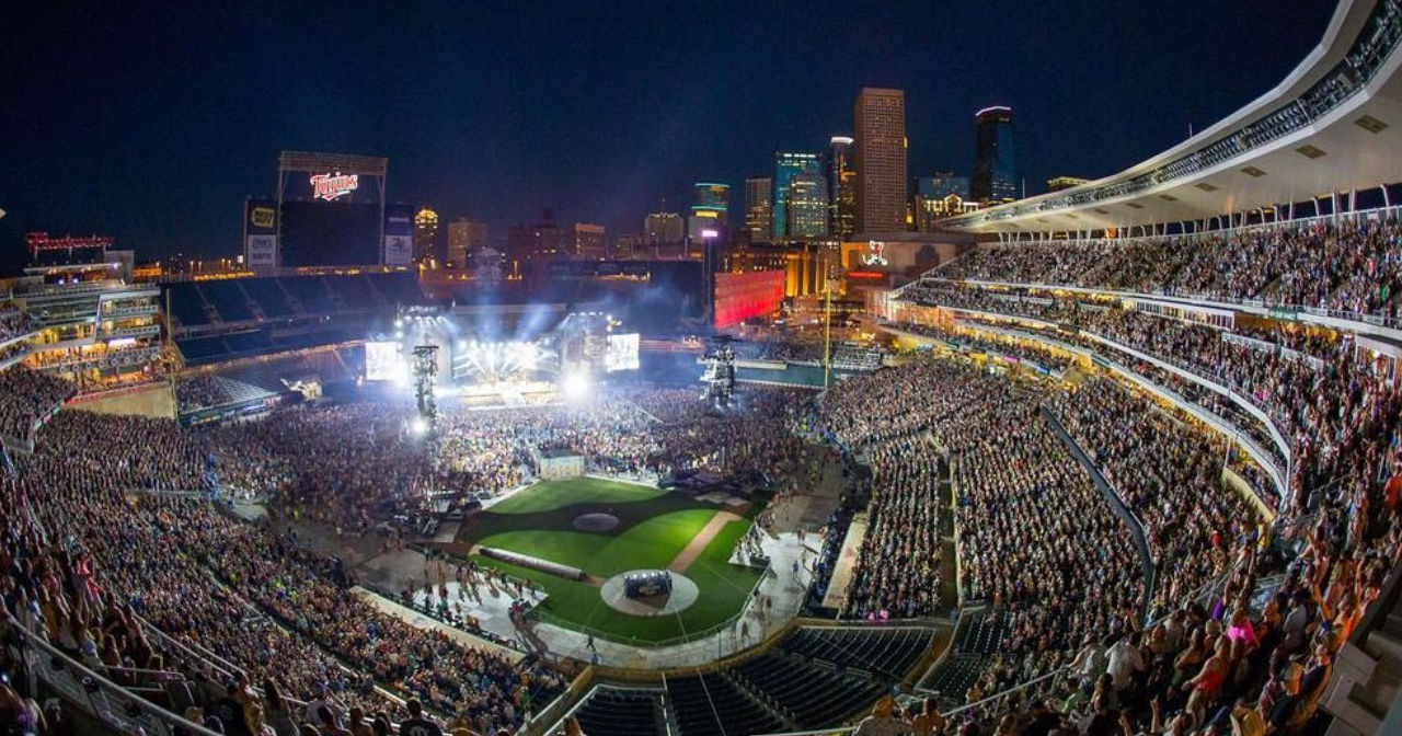 View of the interior of Target Field after getting free guest list