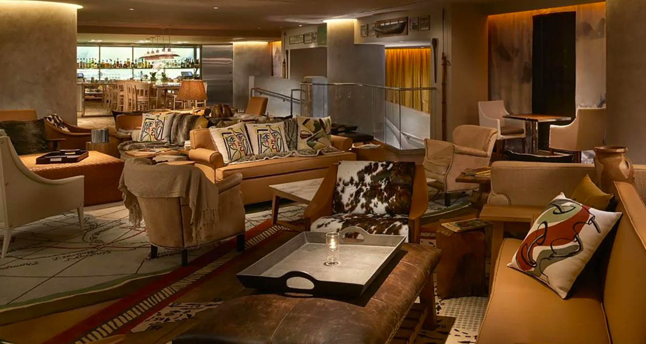 Inside look of SAAM Lounge at SLS Brickell after buying tickets