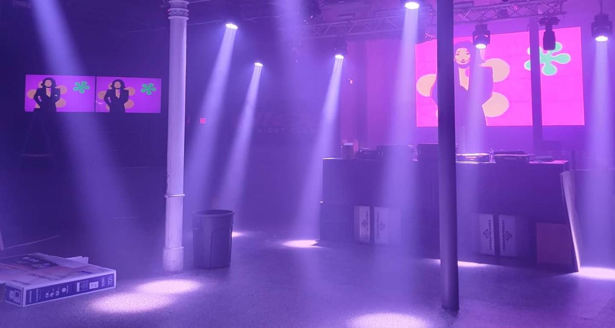 View of the interior of Effex Nightclub