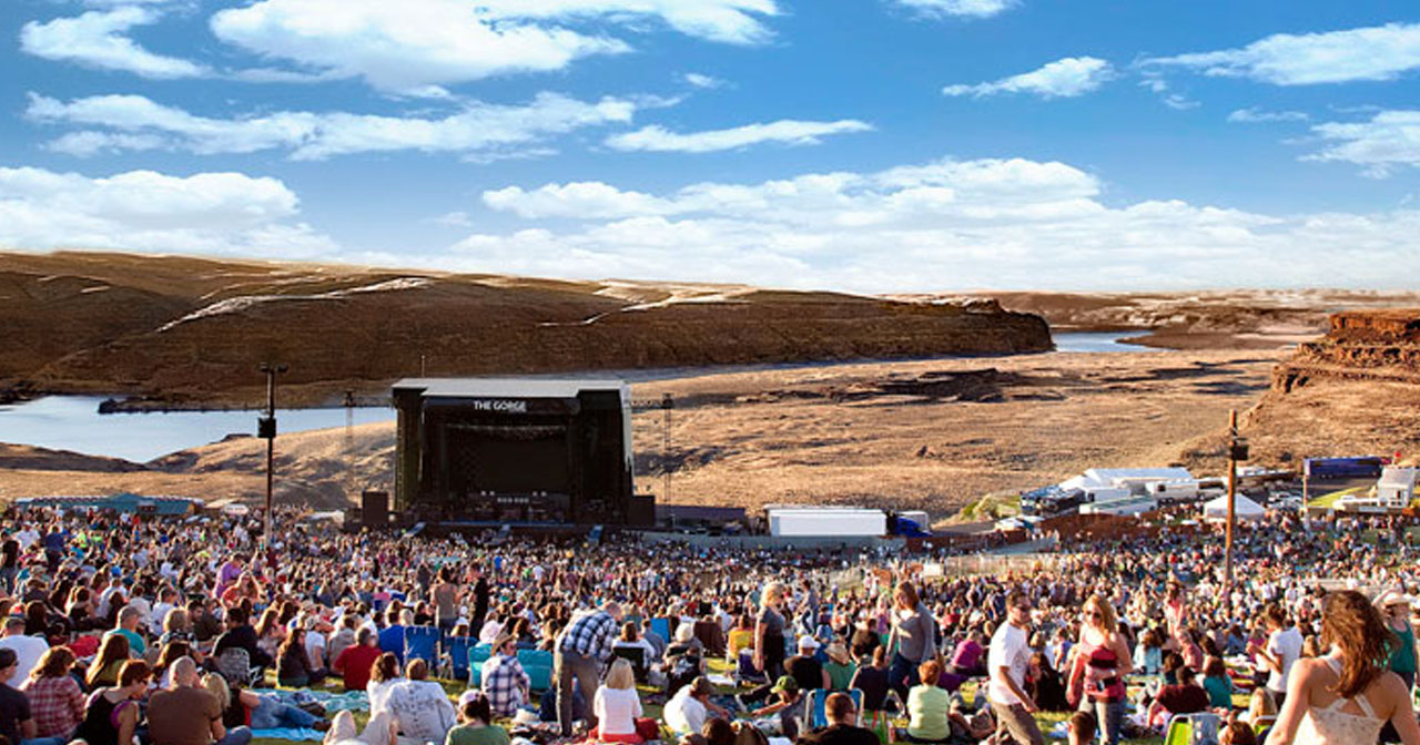 View of the interior of The Gorge after buying tickets