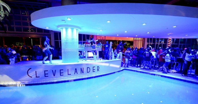 View of the interior of The Clevelander after buying tickets