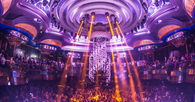 View of the interior of Omnia after buying tickets