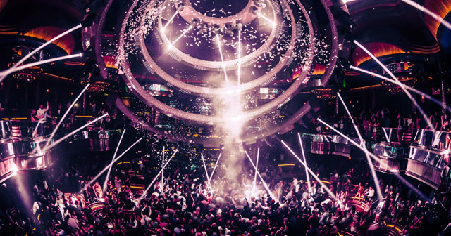 Inside look of Omnia with bottle service