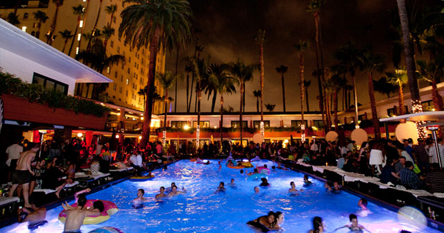 Inside look of Tropicana Pool at The Roosevelt after getting free guest list