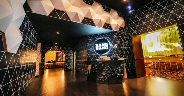 View of the interior of Bang Bang after buying tickets