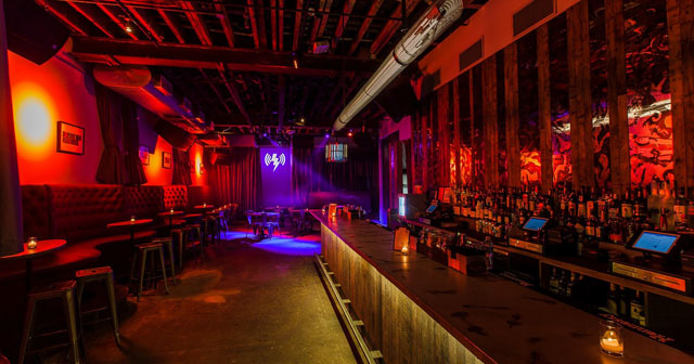 View of the interior of Verboten after getting free guest list