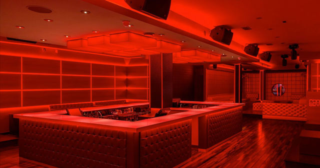 Inside look of Room Seven with bottle service
