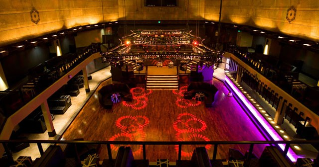 View of the interior of Exchange LA after getting free guest list