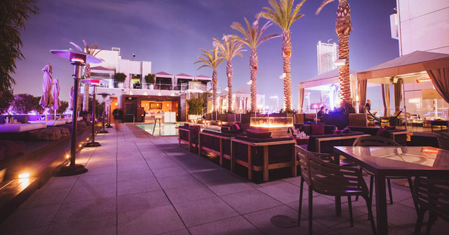 View of the interior of W Hollywood Rooftop after buying tickets