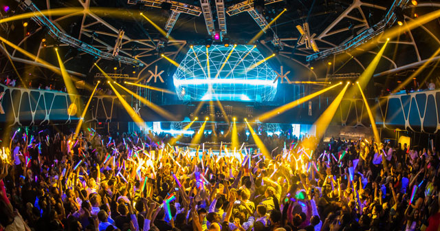 View of the interior of Hakkasan after buying tickets