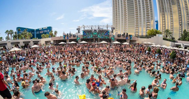 Inside look of Wet Republic with bottle service
