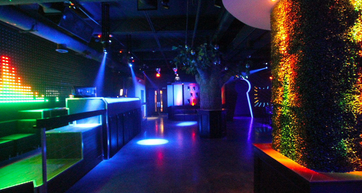 View of the interior of Myth Nightclub after getting free guest list