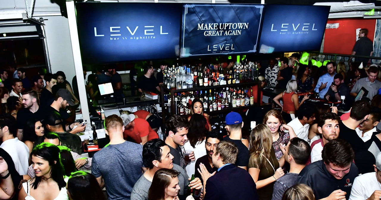 Inside look of Level with bottle service